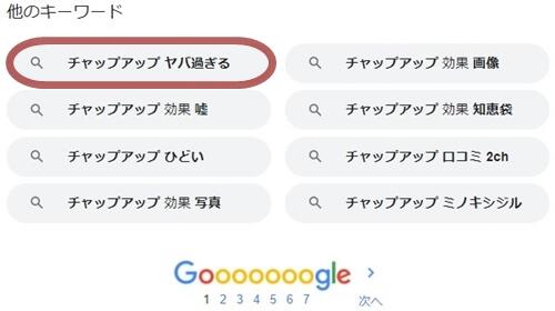 チャップアップヤバ過ぎる検索結果